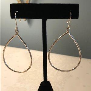 925 SS Lightly Hammered Earrings